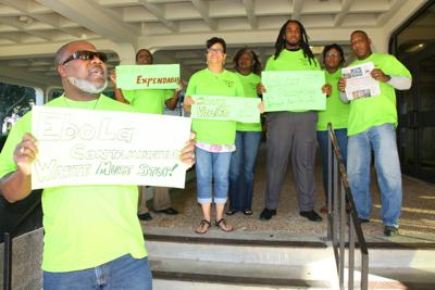 Activist group protests Ebola waste shipments