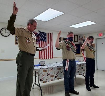 Schneider, Wilson sworn in as Eagle Scouts