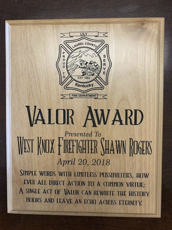 Lily, West Knox Fire Departments honored for saving a life