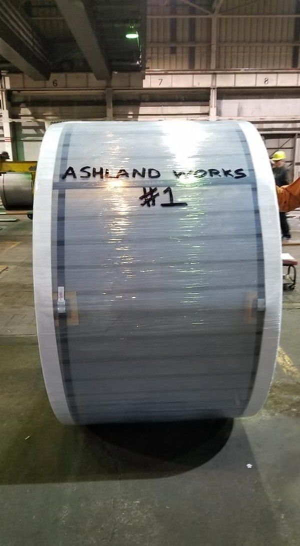 AK Steel Ashland Works produces final coil