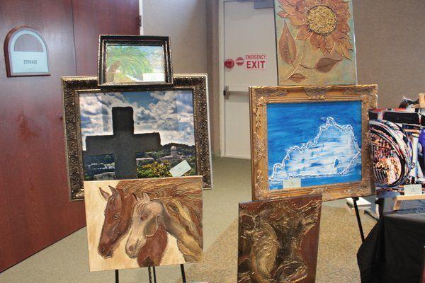 Artists showcase talents at library's Art Walk