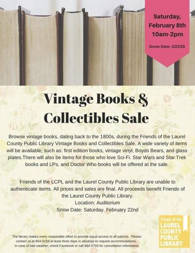 Vintage and collectible items return to the Laurel County Public Library