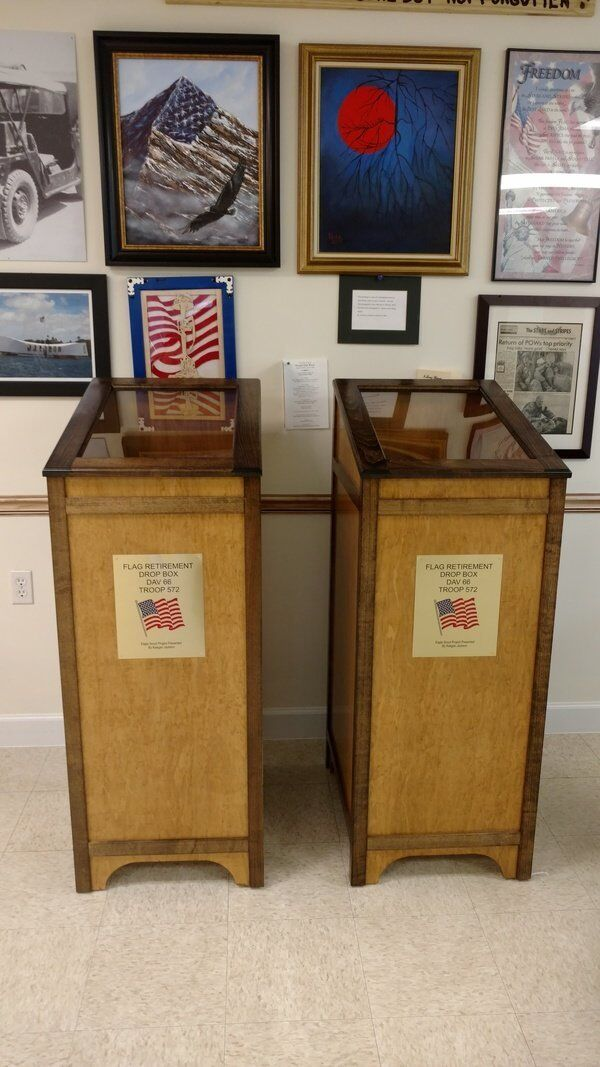 DAV and Boy Scouts team to provide American flag retirement boxes