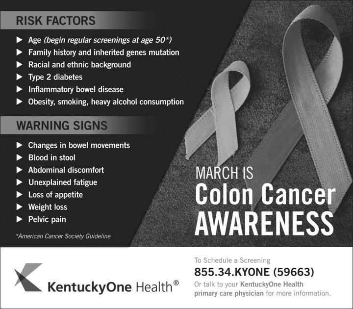 Kentucky Ranks Fourth In Nation For Colon Cancer Deaths News Sentinel Echo Com