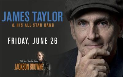 James Taylor playing in Louisville in June