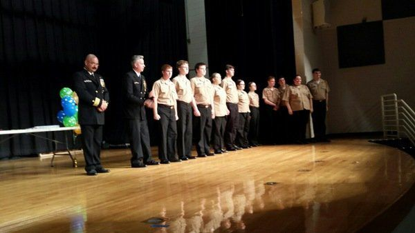Veterans of Foreign Wars (VFW) honors Jr. ROTC cadets