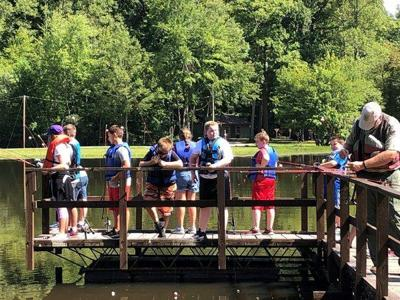 Fishing day at Feltner 4-H Camp