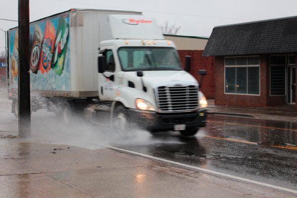 Rain, snow poses driving threats