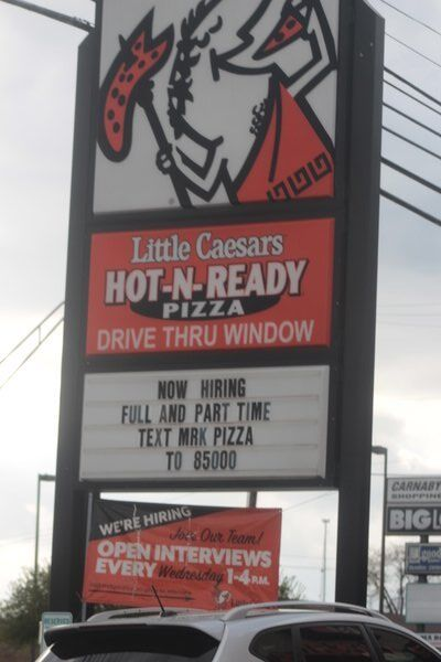 Now Hiring...Restaurant industry booming with business but no employees