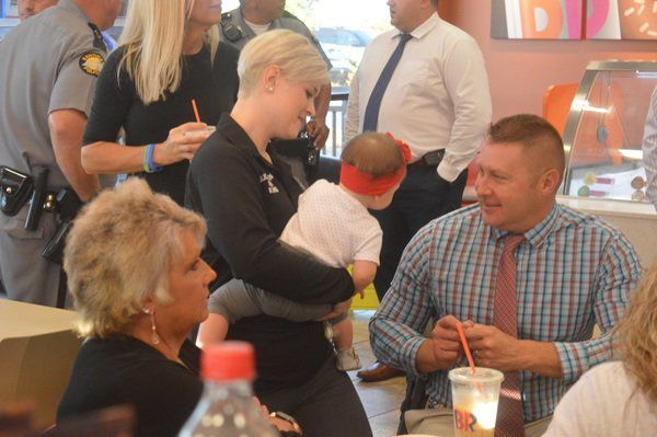 Cops bond with community over coffee