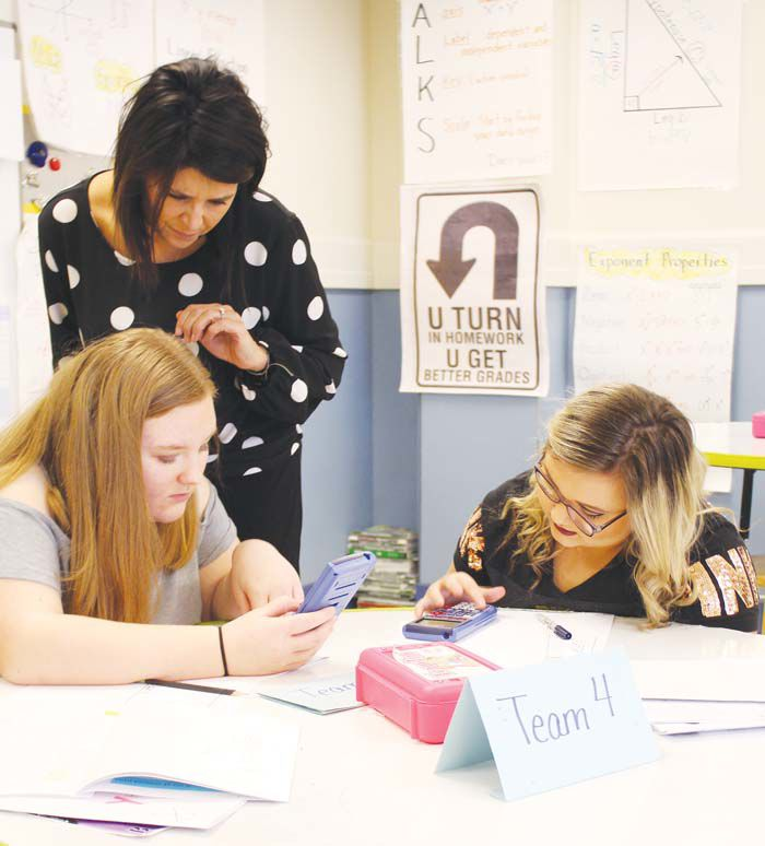 Marcum uses innovative approach to teach students news sentinel north laurel middle school math teacher kelly marcum assists two students during her planning period marcum was selected as the teacher of the year middle ccuart Image collections
