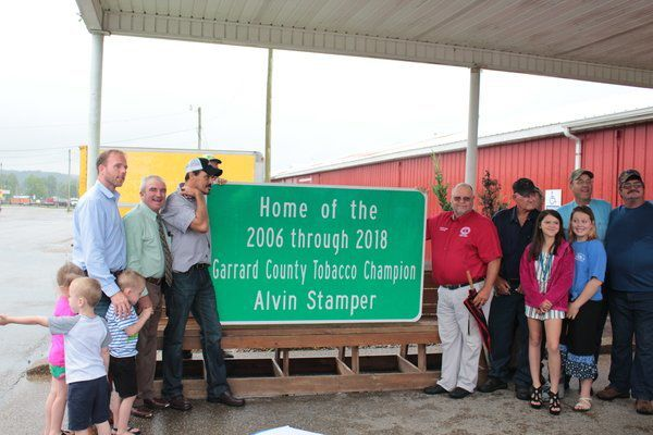 Road Sign honors local tobacco farmer