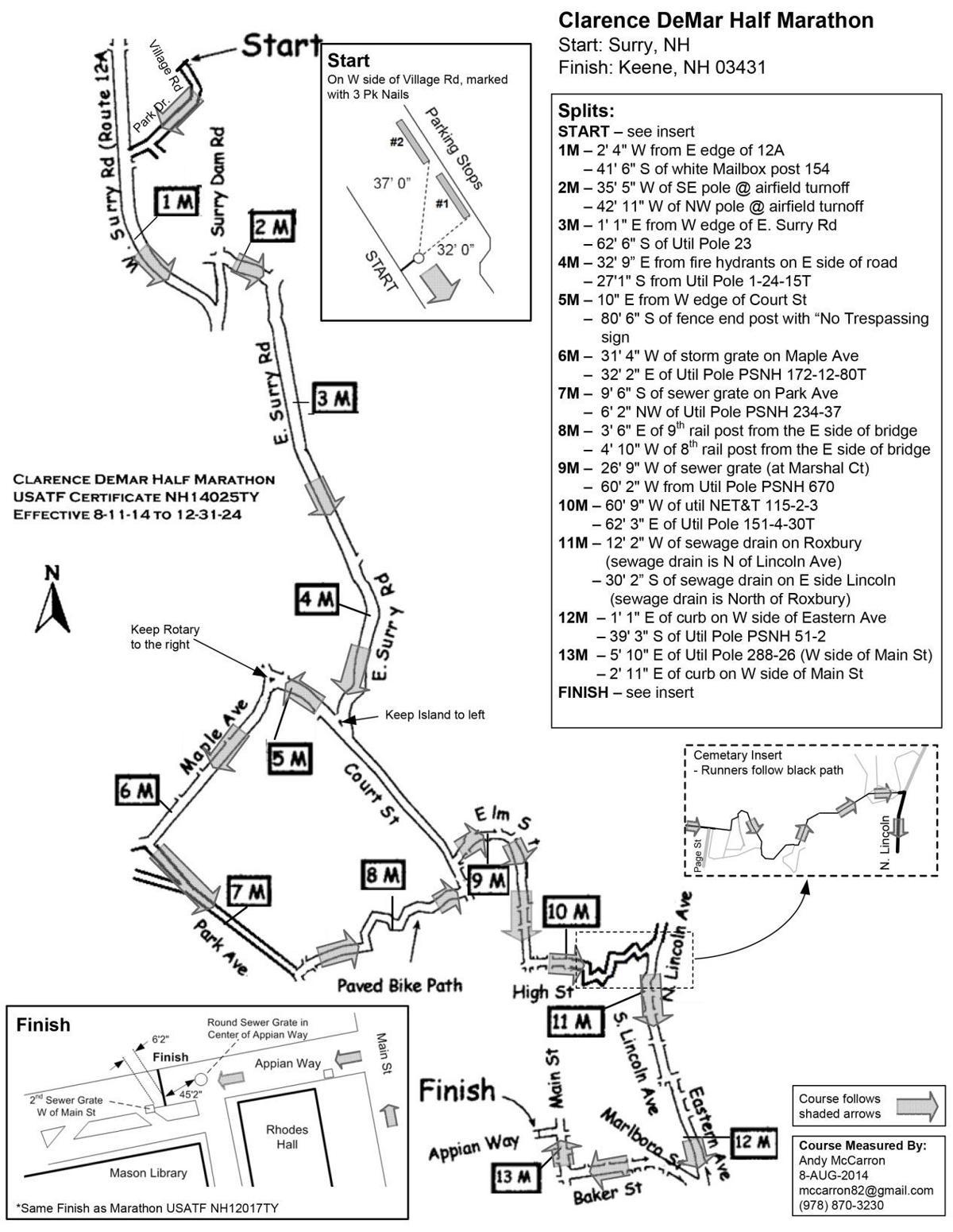 Dream Run:  The DeMar Half Marathon route