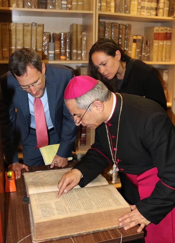 With Archbishop Najeeb Mikhael Najeeb