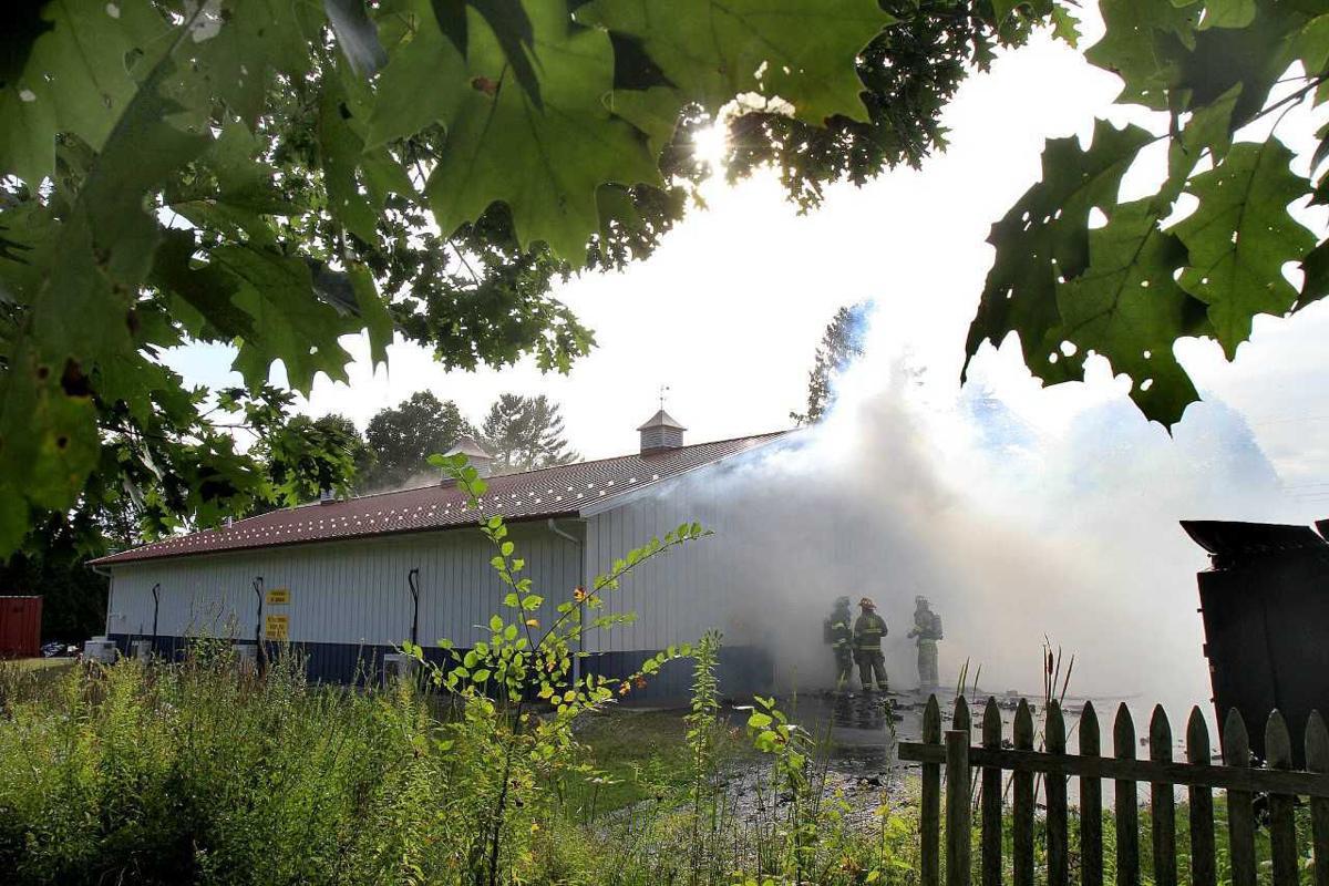 A smoky scene