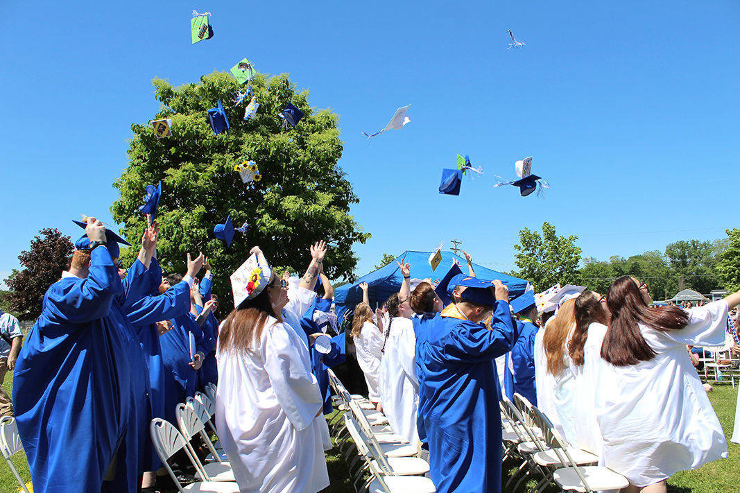 Catching some graduation air