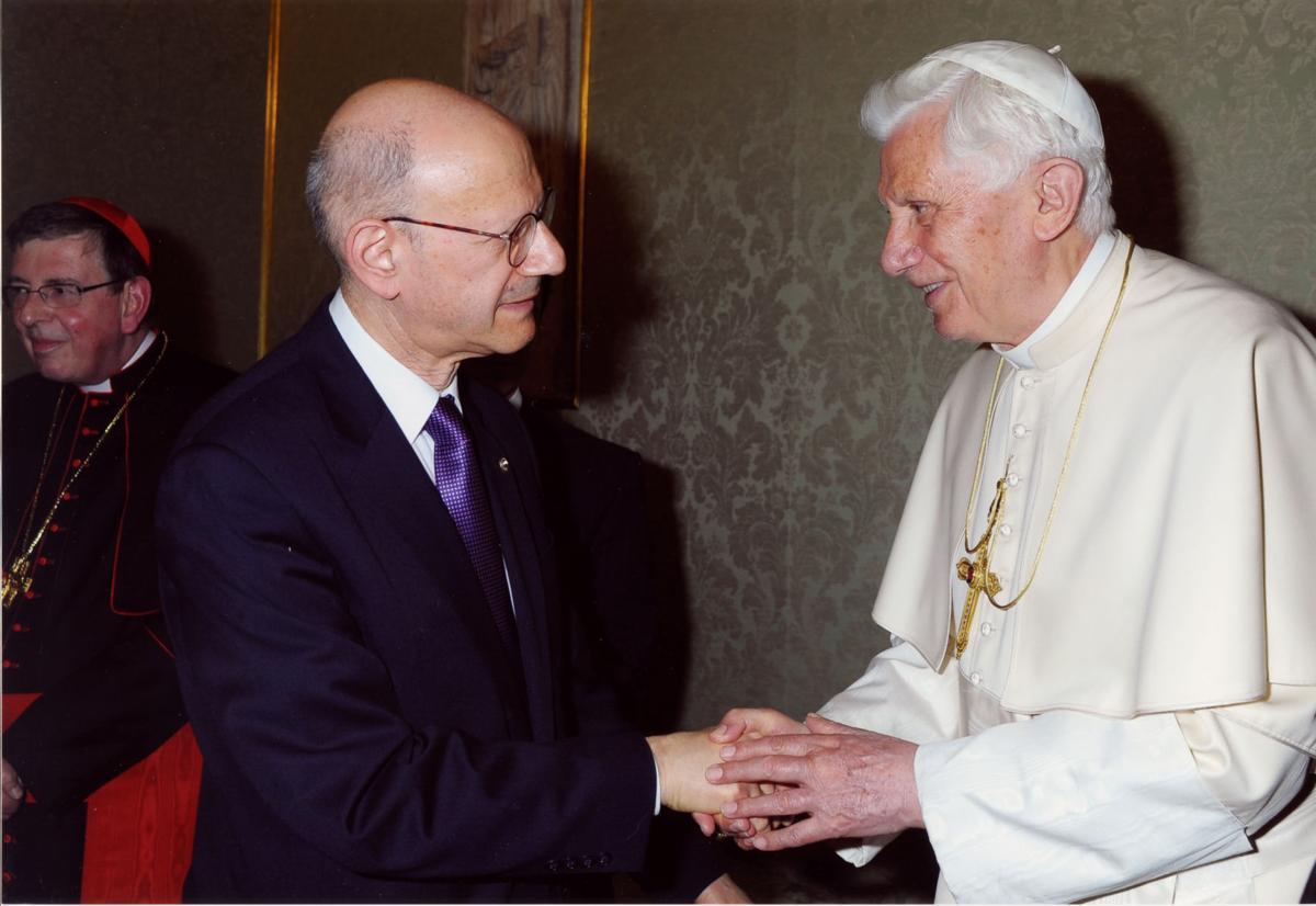 Daniel S. Mariaschin and Pope Benedict XVI