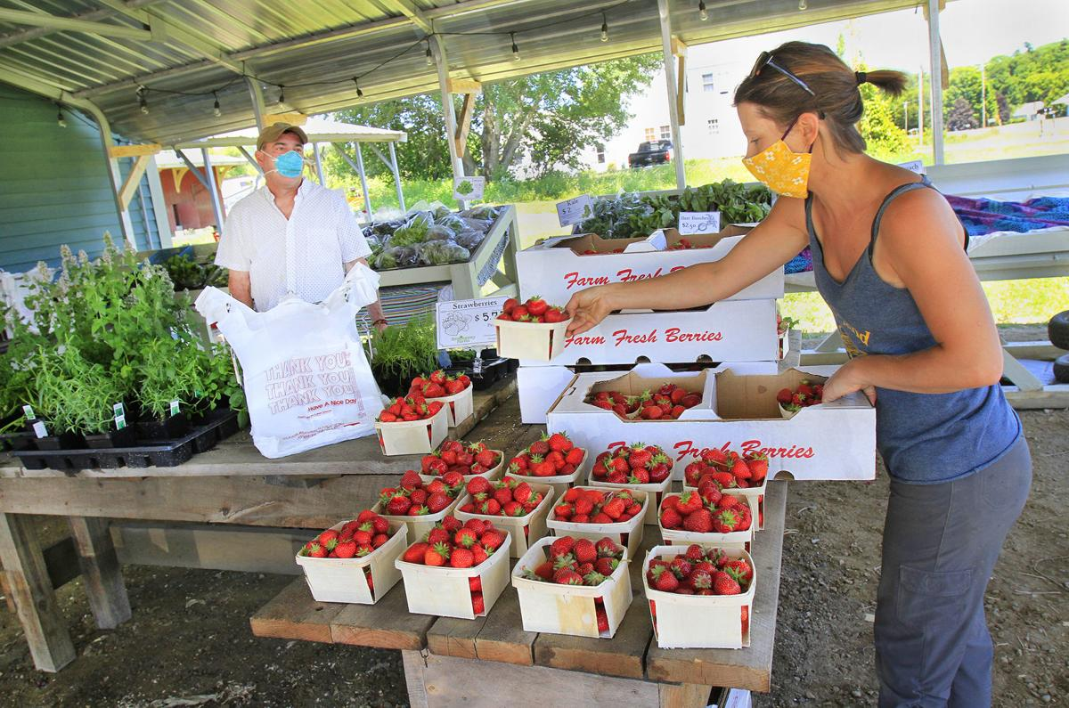 Selling strawberries