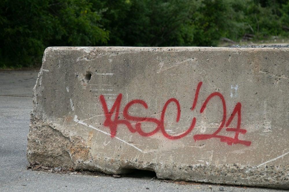 Graffiti on Myrtle St.