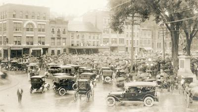 Keene's Central Square in 1916