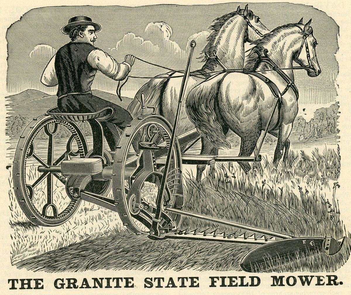 An advertisement for Granite State Mowing Machine Co.