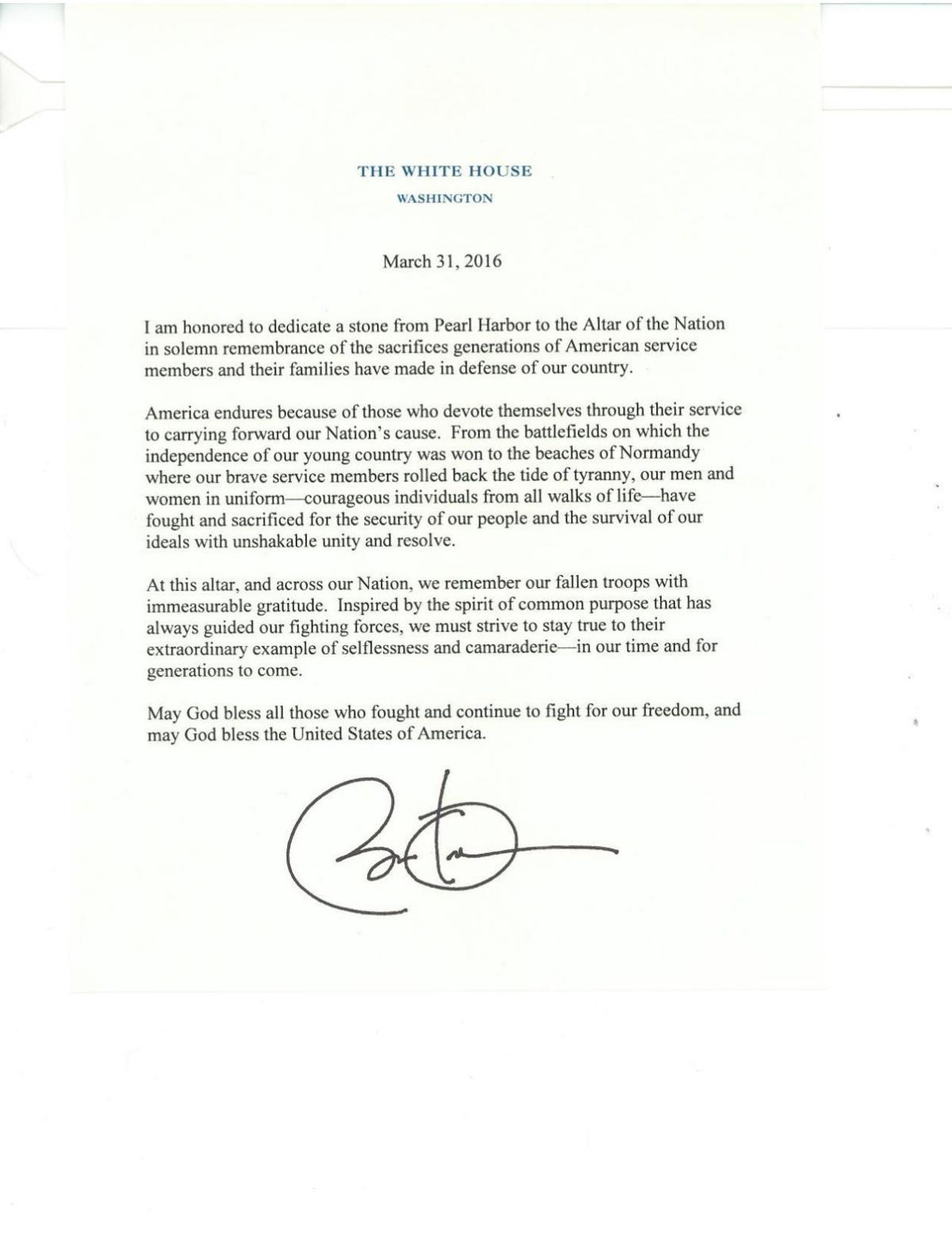 Letter from president barack obama for dedication at cathedral of download pdf letter from president barack obama for dedication at cathedral of the pines spiritdancerdesigns Image collections