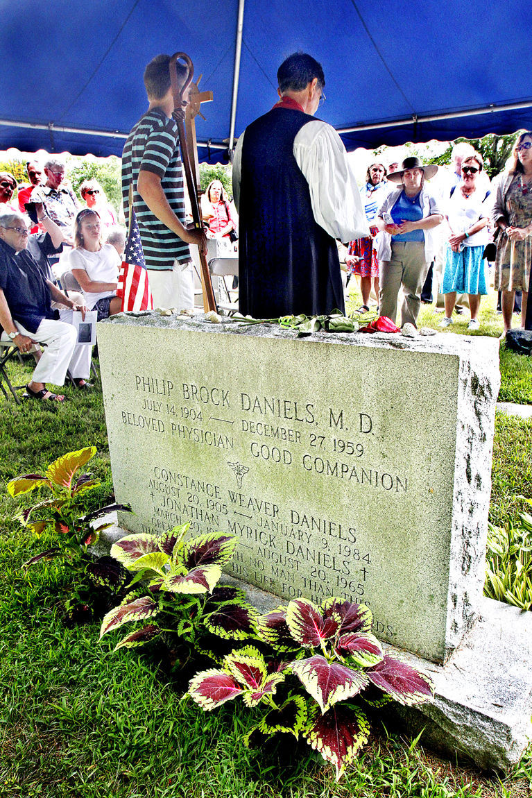 A graveside service