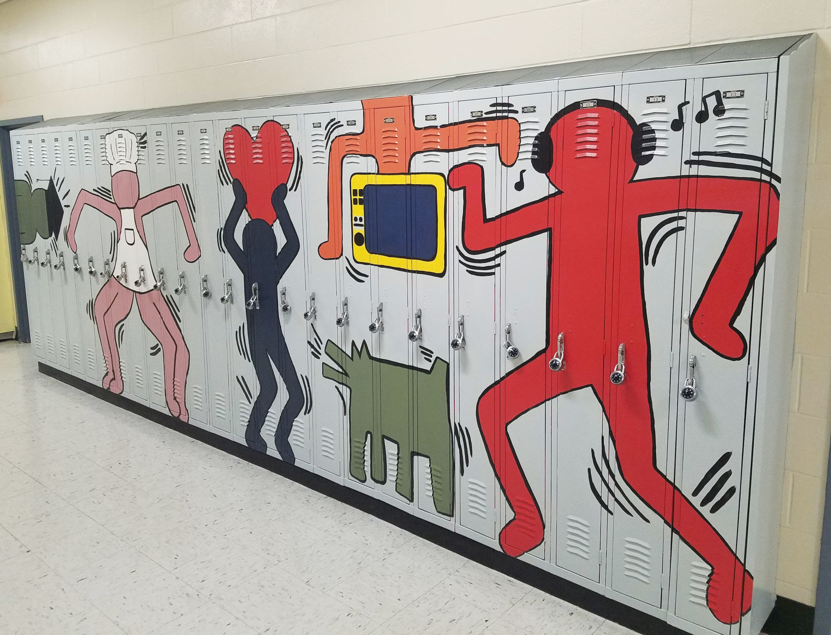 Big Picture Art Students Give Conant High Lockers A