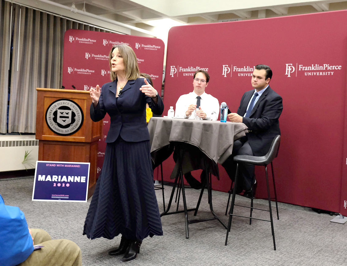 Marianne Williamson at Franklin Pierce
