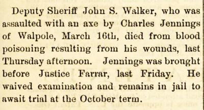 Deputy John Walker's death notice