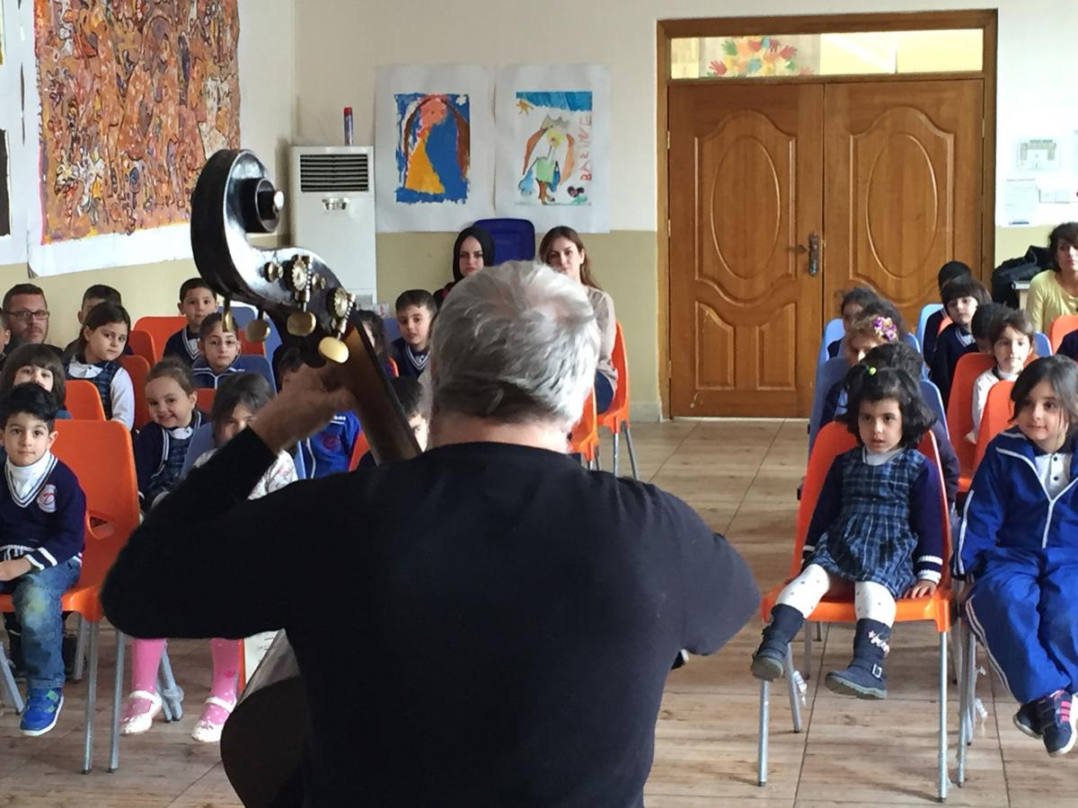 Playing for the children