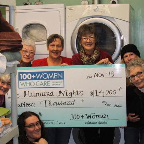 100+ Women Who Care donates to Hundred Nights
