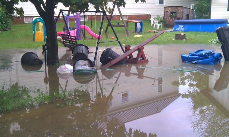Flash flooding inundates keene neighborhoods local news for Backyard flooding solutions