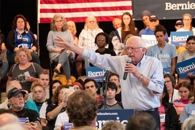 Sanders stumps