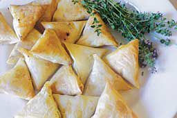 Phyllo Filled with Apple, Cheese and Leeks
