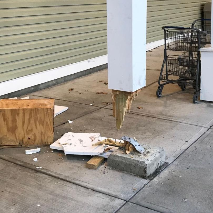 Vehicle hits state liquor store in West Chesterfield