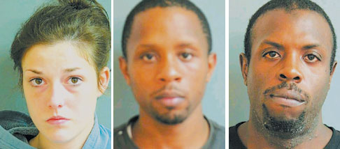Three charged in heroin bust