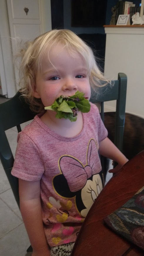 Ella and her lettuce