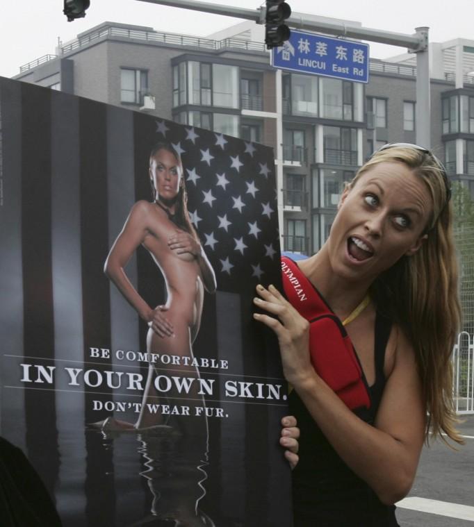 Amanda beard naked anti fur poster