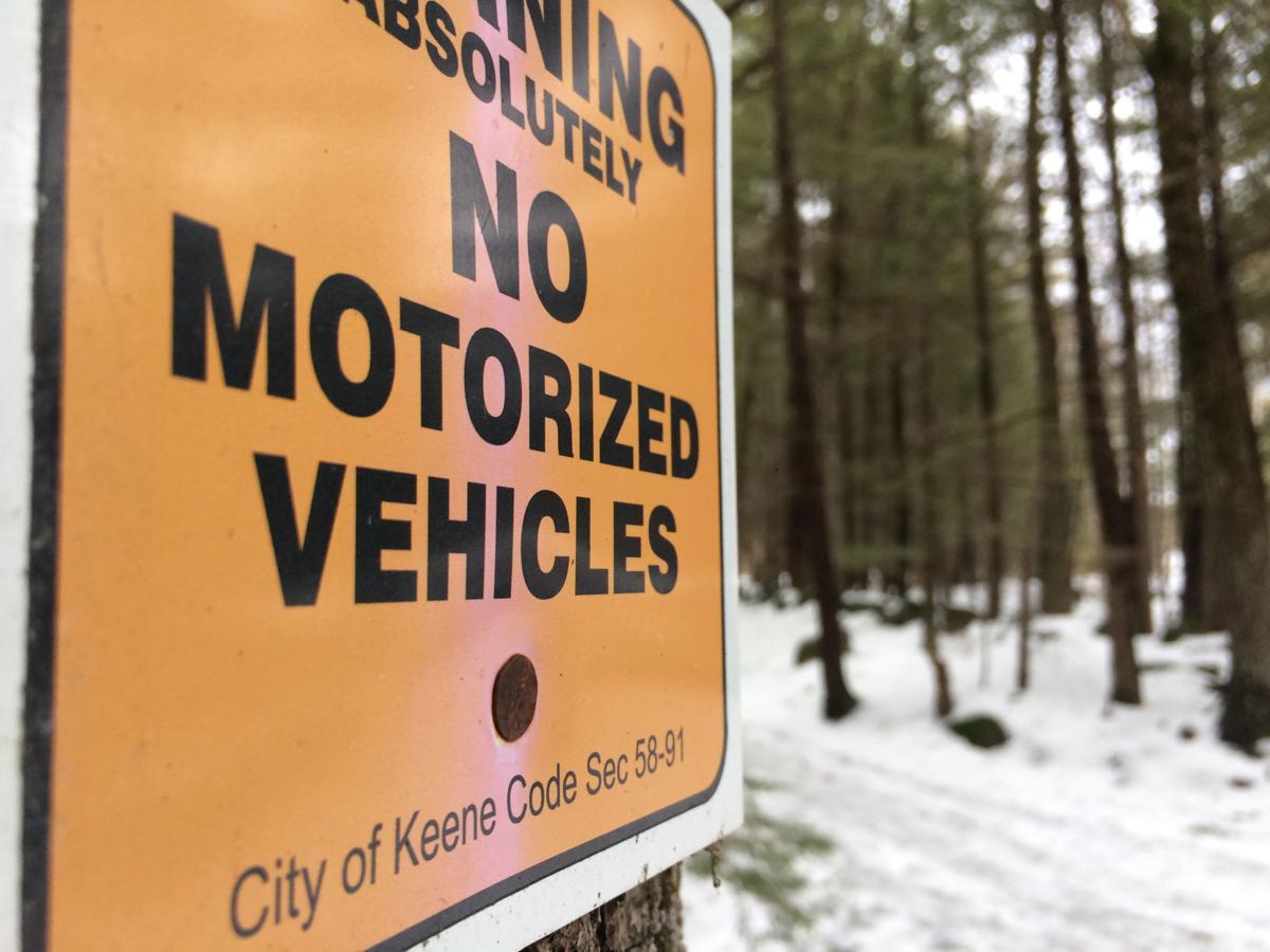 'No motorized vehicles'