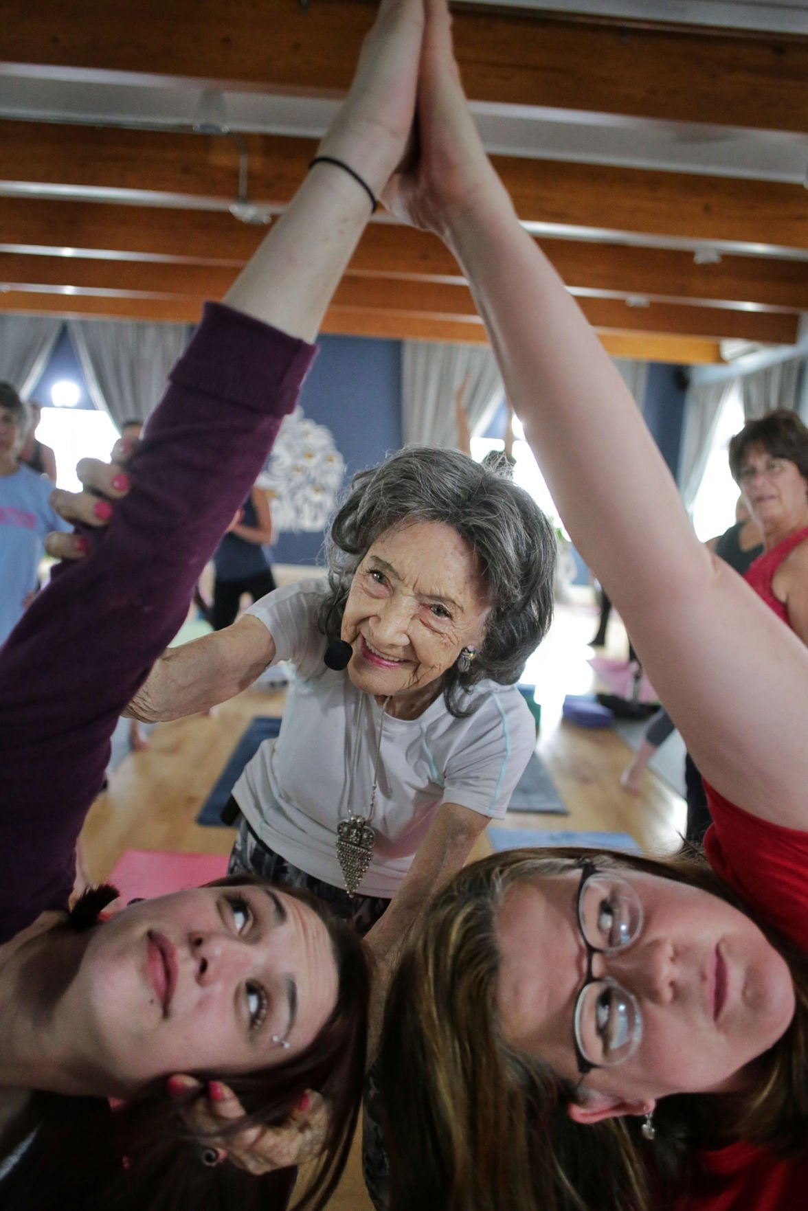 An Inspiration At 98 Porchon Lynch Stretches Out Long Yoga Career Local News Sentinelsource Com