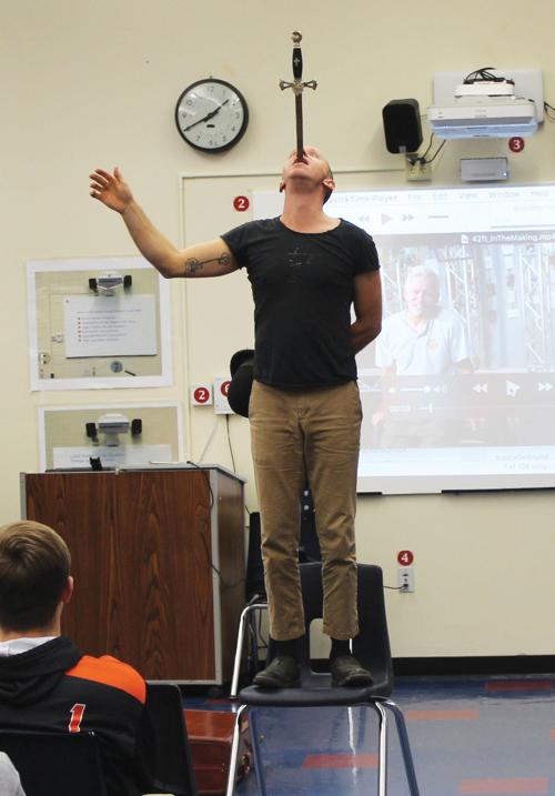Artistry and engineering: Keene High hosts circus performers