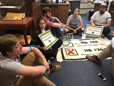 KSC students arrested during voting law protest at Statehouse
