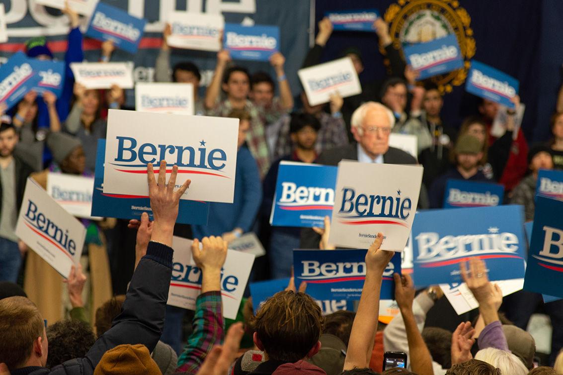 Bernie Sanders enters his rally