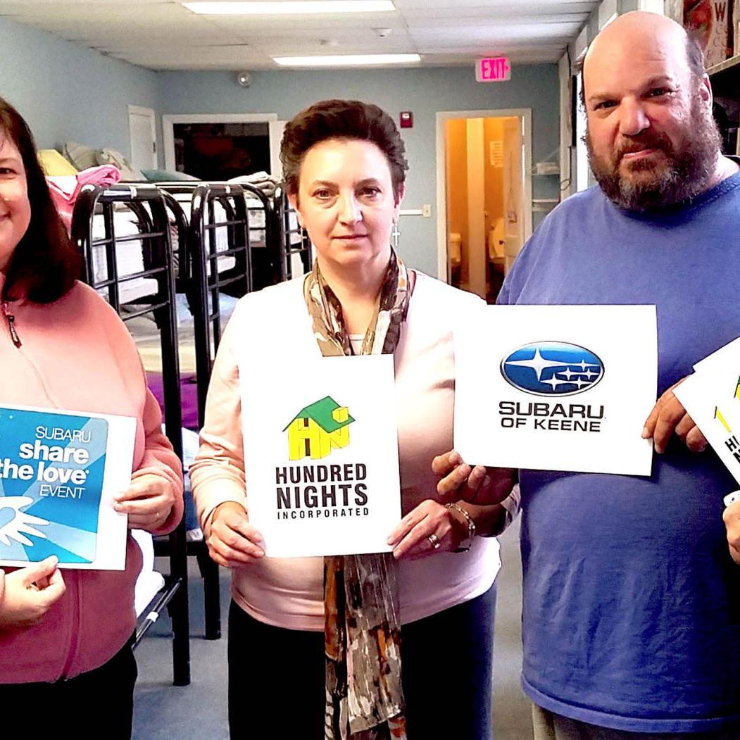 Subaru of Keene selects Hundred Nights as hometown charity