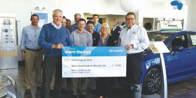 Subaru Of Keene >> Subaru Of Keene Presents Donation Check To Rise For Baby And Family