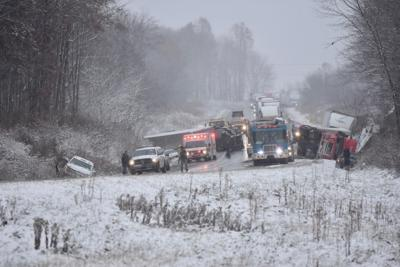Multiple vehicle accident on I-80