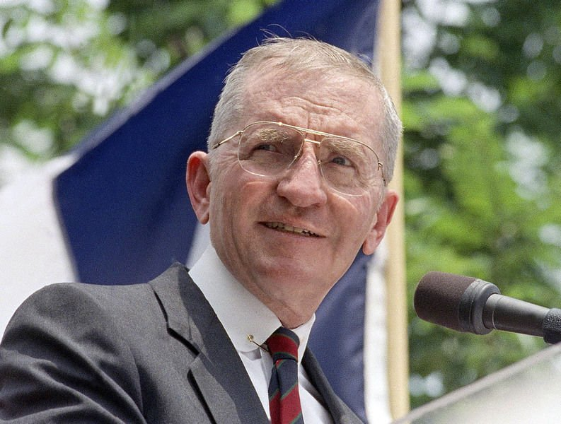 H. Ross Perot rose from poverty to becomeself-made billionaire