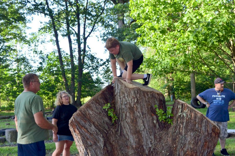 Cub Scouts tackle challenge of obstacle course