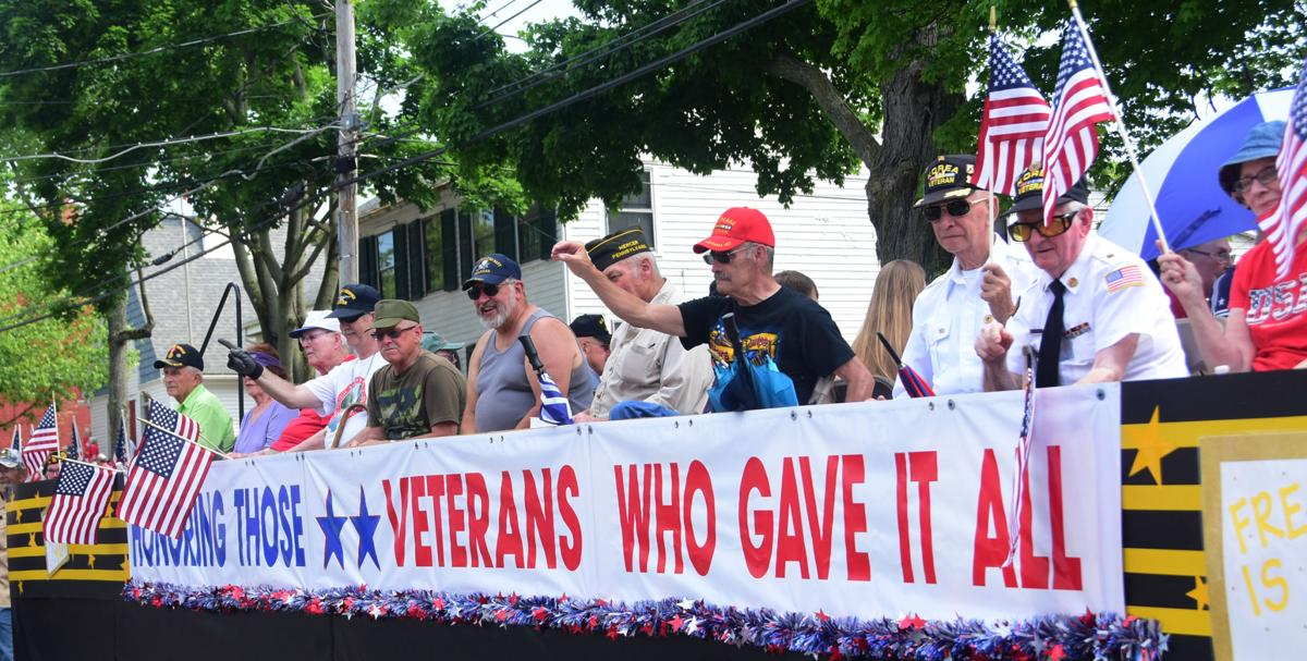 39bcd338 A float containing multiple veterans takes part in the Memorial Day parade  at the Mercer Memorial Day 500 event held Monday at the Mercer County  Courthouse.